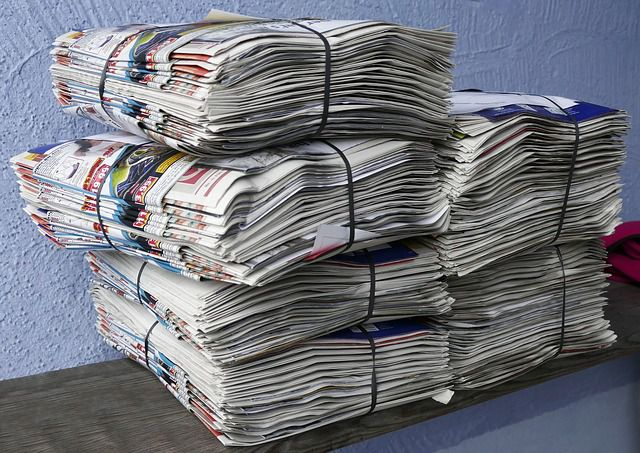 newspapers-stack-of